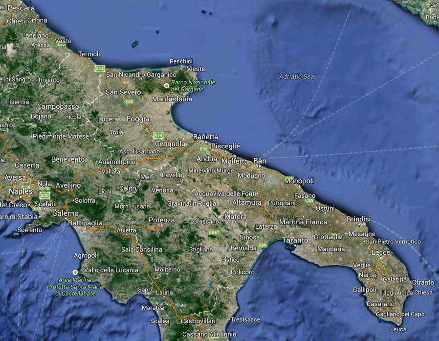 APULIA GEOGRAPHICAL MAP SOUTH ITALY HOLIDAYS TRAVEL PROPERTY IN